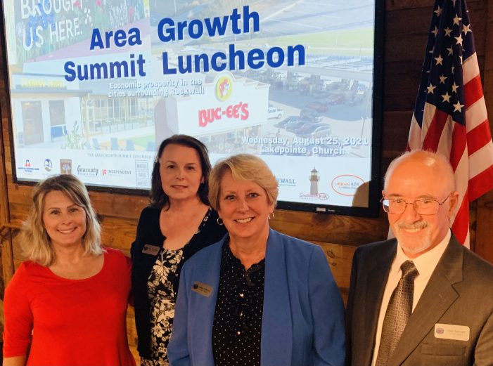 McLendon-Chisholm Mayor Pro Tem Kipphut represents the City at Rockwall Area Chamber's Growth Summit Luncheon
