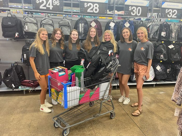 Rockwall High School Student Council donates back-to-school items to Rainbow Room