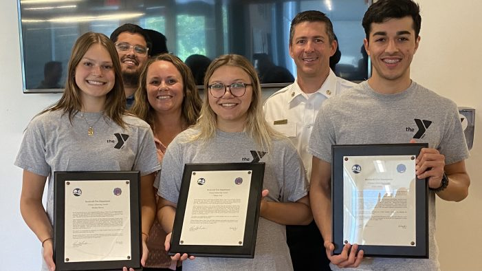 Rockwall YMCA lifeguards recognized for saving life of drowning boy