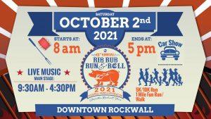 Rib, Rub, Run & Roll 2021 @ Downtown Rockwall Texas