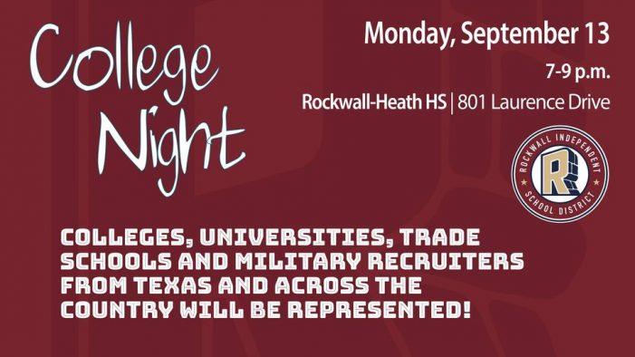 Rockwall ISD College Night: Sept. 13 at Rockwall-Heath High School