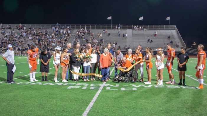 Rockwall ISD hosts dedication ceremony for field at Wilkerson-Sanders Memorial Stadium
