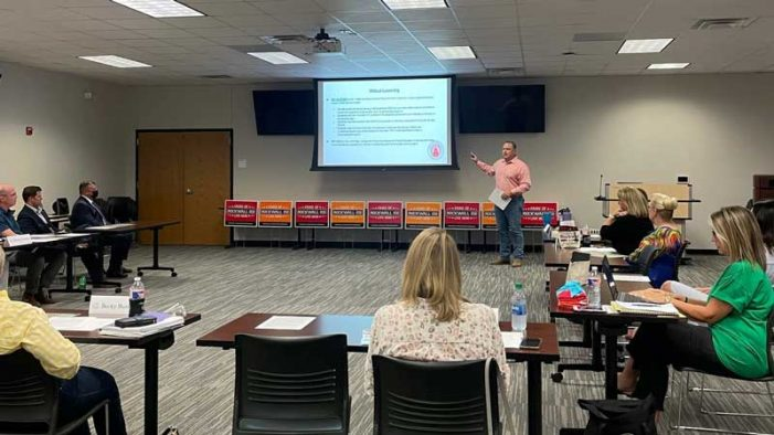 Rockwall ISD Education Foundation welcomes legislative update from State Rep. Justin Holland