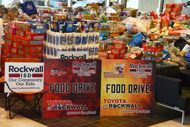 Toyota I-30 Classic/Rockwall ISD Pack the Pantry event breaks records for food donations