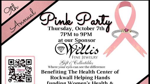 Oct. 7 Annual Pink Party to help fund mammograms through The Health Center of Helping Hands