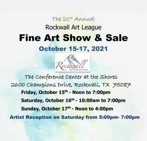 Rockwall Art League Fine Art Show & Sale @ Rockwall Golf & Athletic Club