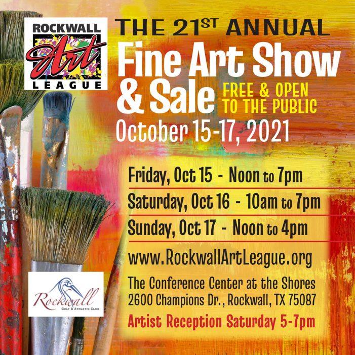 Rockwall Art League's 21st Annual Fine Show returns Oct. 15-17