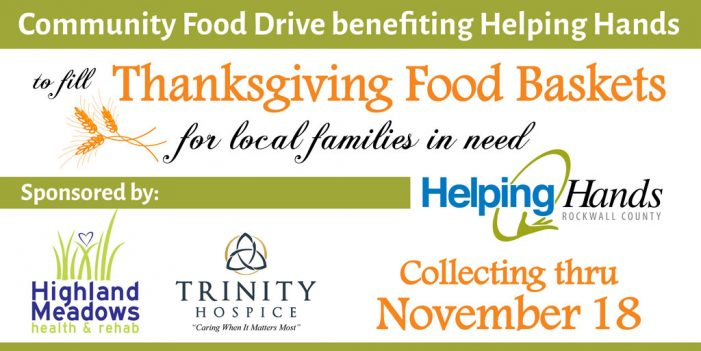 Highland Meadows, Trinity Hospice team with community partners for food drive to fill Thanksgiving baskets