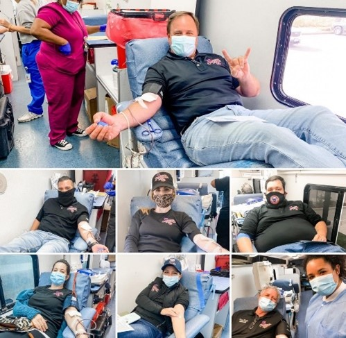Announcing blood drives at all 18 Soulman's locations throughout November