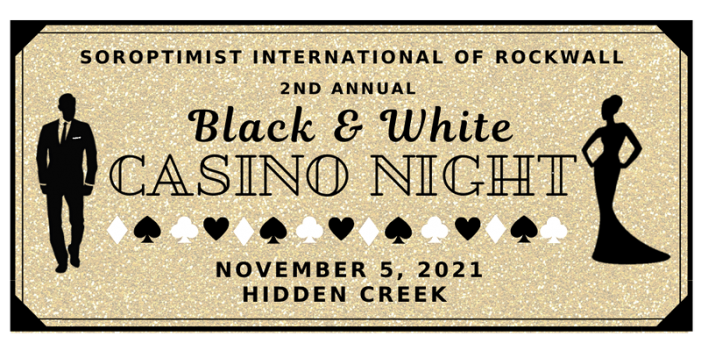 Rockwall Soroptimist to host Black & White Casino Night
