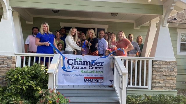 Rockwall Chamber welcomes The Local Desk to the community with ribbon cutting