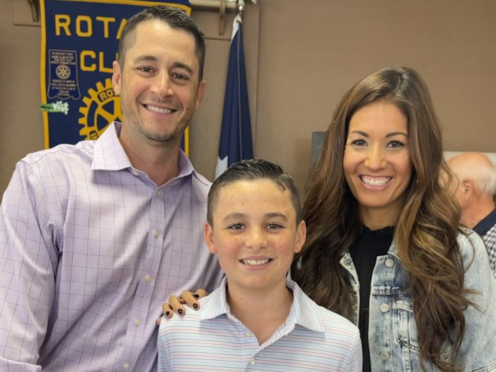 Rockwall Rotary recognizes Student of Honor Will Covington from Amy Parks Heath Elementary